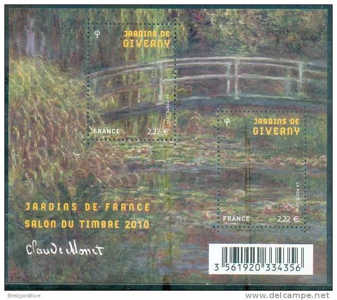 "France 2010 - Claude Monet, Impressionnisme / Impressionnisme - ""Nymphéas à Giverny"" / ""Water Lilies At Giverny"" - MNH - Impressionisme"