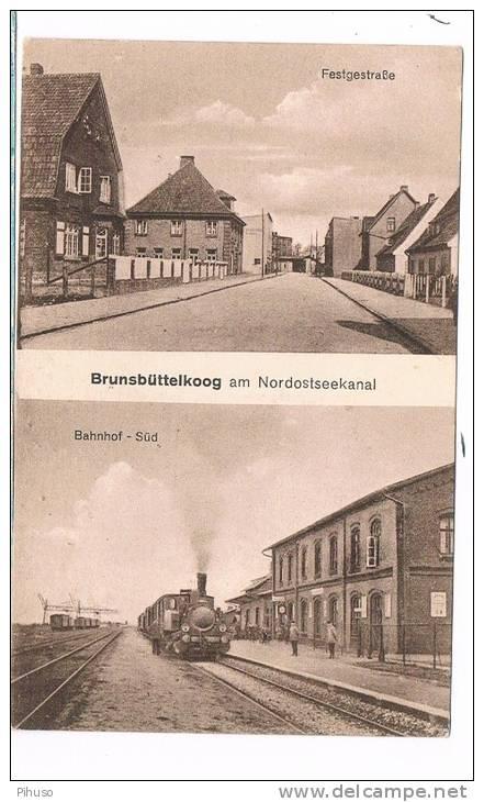 D2498    BRUNSBÜTTELKOOG : Festgestrasse / Bahnhof-Süd - Brunsbuettel