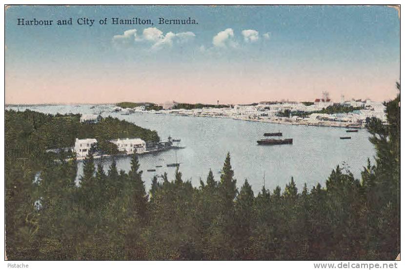 CPA - Hamilton Bermudes Bermuda - Port Harbour Harbor - Bateaux Boats - Non Circulée - 2 Scans - Bermudes