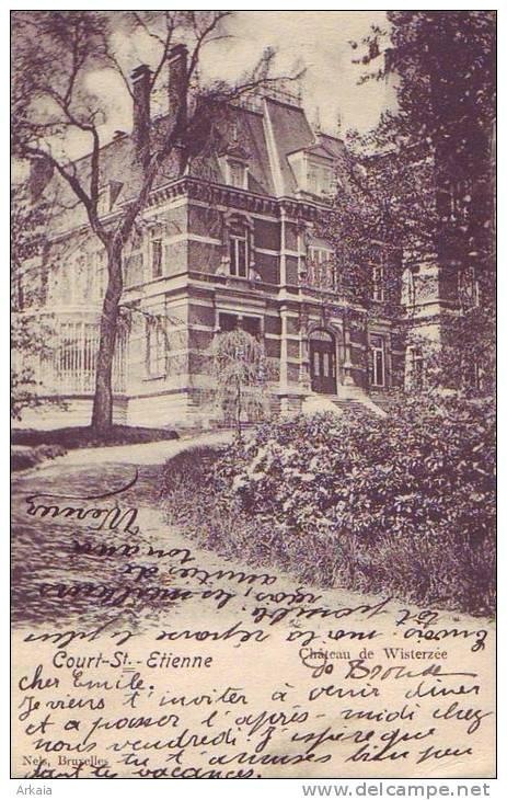 COURT ST ETIENNE = Château De Wisterzee   (écrite) 1913 - Court-Saint-Etienne