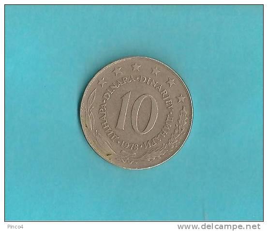 JUGOSLAVIA 10 DINARI 1978 - Jugoslavia