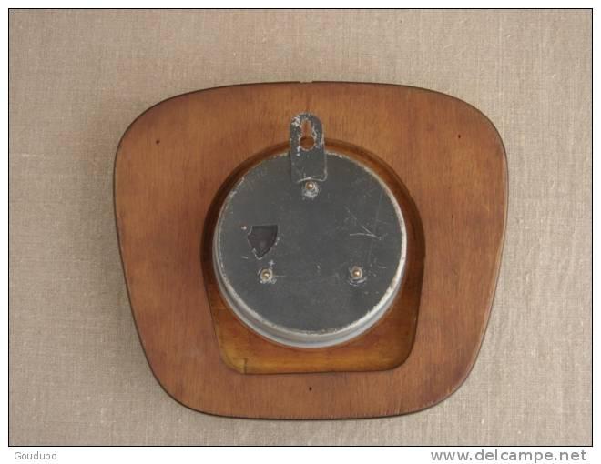 Pendule Murale Bayard Avec Sa Clef N°5, Années 50-60, Formica Vert-bleu.Voir 7 Photos. - Horloges