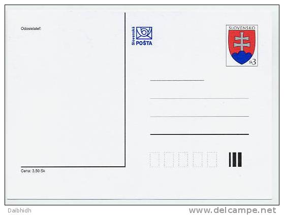 SLOVAKIA 1997 3 Sk. Arms Postcard - Ansichtskarten