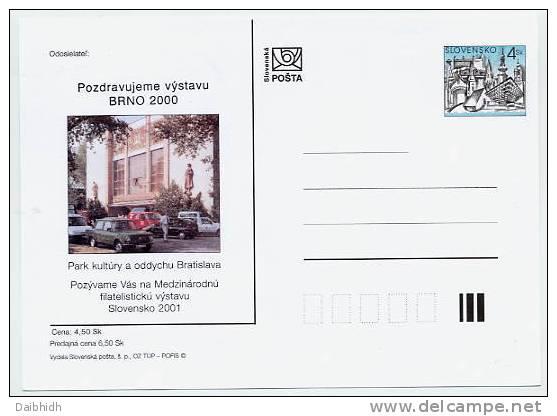 SLOVAKIA 2000 4 Sk. Bratislava Postcard With Advertisment: BRNO 2000 - Postales