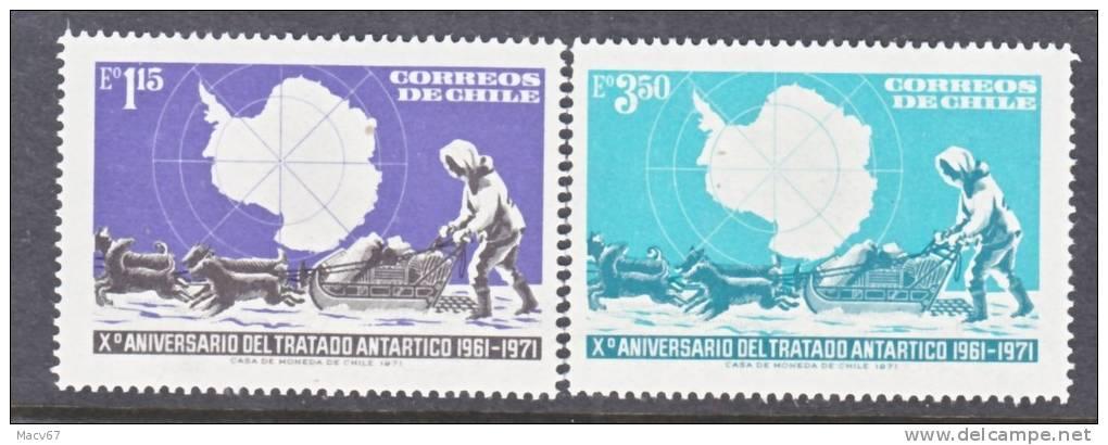 Chile 415-6   **   POLAR   ANTARCTIC  DOG SLED - Antarctic Wildlife