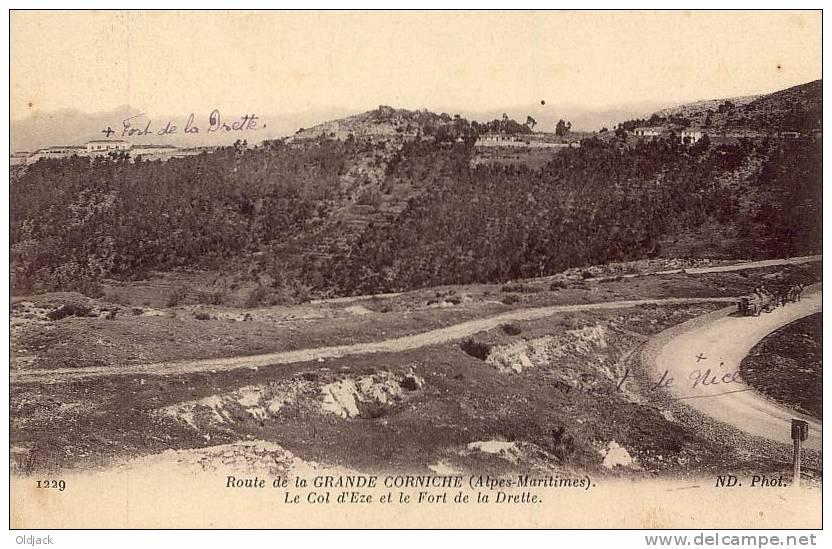Route De La Grande Corniche Le Col D'Eze Et Le Fort De La Drette - Francia