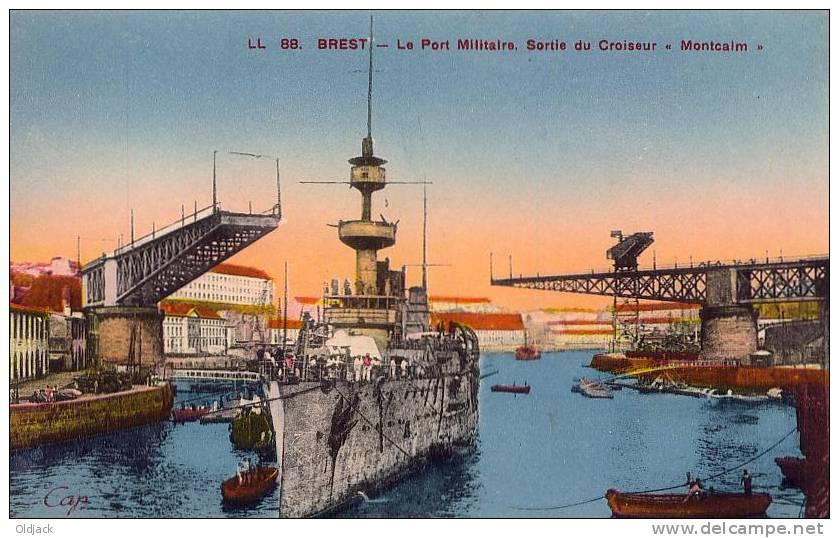 """BREST Le Port Militaire Sortie Du Croiseur """"Montcalm"""" - Brest"""