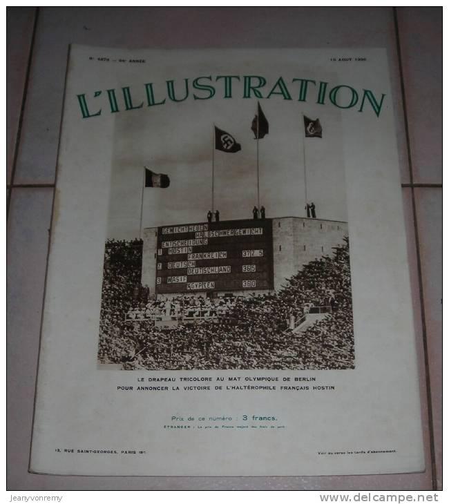 L´Illustration N°4876 -  15 Août 1936. Le Drapeau Tricolore Au Mat Olympique De Berlin. - Journaux - Quotidiens