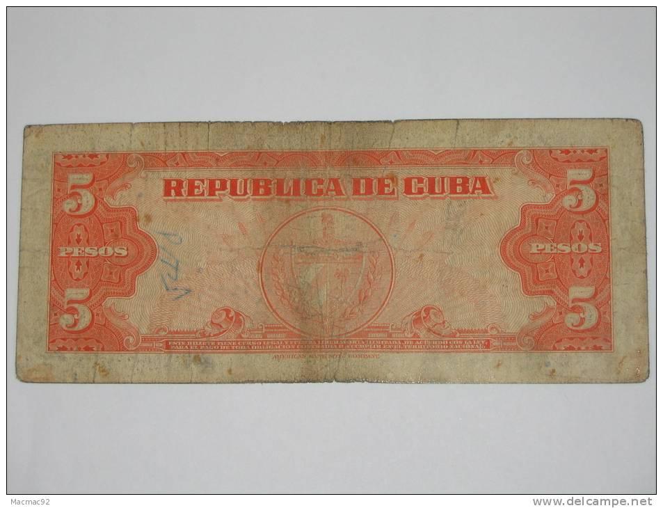5 Pesos 1950 - CUBA- - Cuba