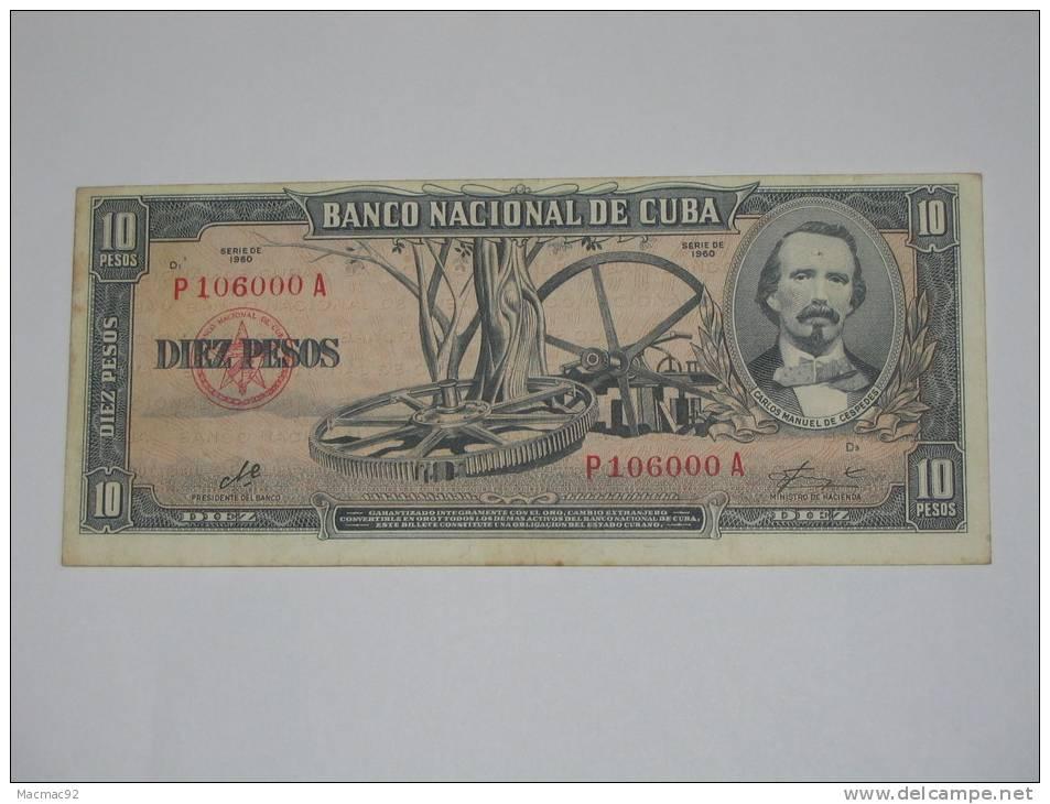 10 Pesos 1956-1960 - CUBA- - Cuba