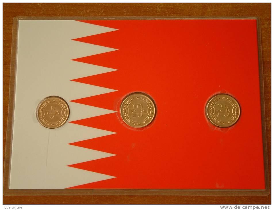 5, 10 & 25 Fils 1992 / Real Coins Gold Plated - Verguld - Doré ( For Grade, See Photo ) ! - Bahreïn