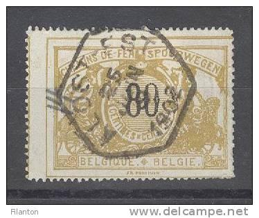 "BELGIE - OBP Nr TR 24 - Spoorwegen/Chemins De Fer (ref. 793) - Gest./obl.- Cachet ""ALOST-EST"" - 1895-1913"