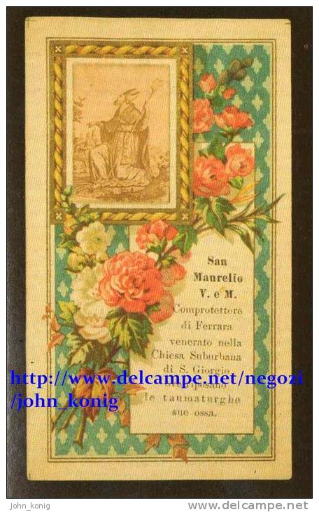 FIGURINE SANTI I CAMPIONI DELLA FEDE - PUBBLICAZIONI EDIZIONE CULTURA - N.404 S. MAURELIO - Panini