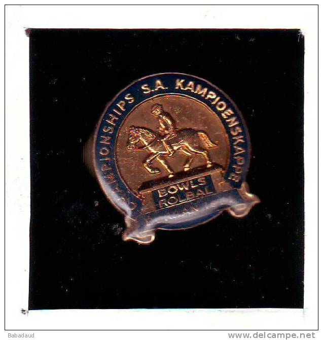 SOUTH AFRICA BOWLS CHAMPIONSHIPS  DURBAN 1981 Lapel Badge - Bocce
