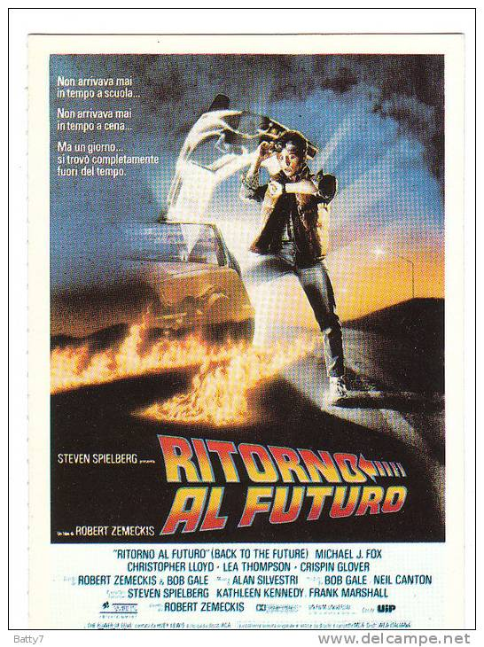 CINEMA CARTONCINO PUBBLICITARIO FILM -  RITORNO AL FUTURO 1985 DESCRIZ. SUL RETRO - Pubblicitari