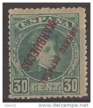 MA010-A305TFR.Maroc.Maroc O.MARRUECOS   ESPAÑOL.Alfonso Xlll. 1903/9 (Ed 10hei** )sin Fjjasellos.MUY BONITO - Familias Reales