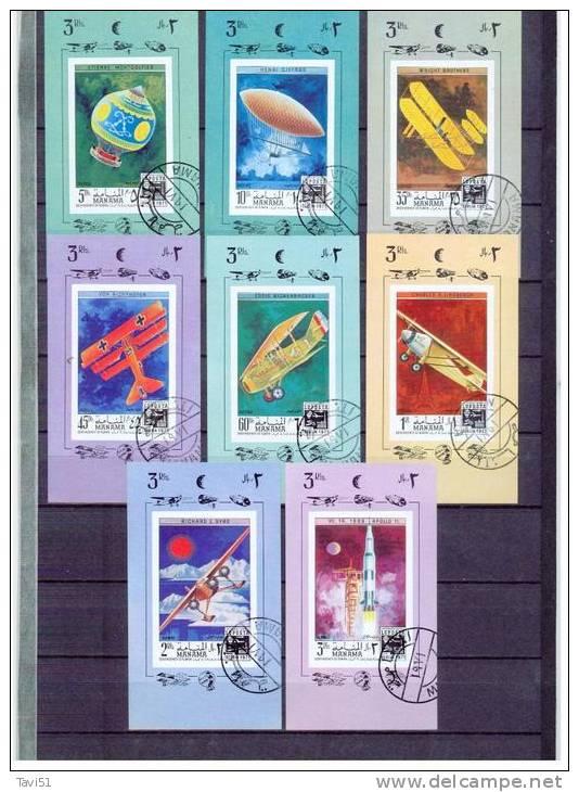MANAMA   , - 1971 - , Oo , Used , Gestempelt , Mi.Nr.505 - 512 Einzelblocks - Manama