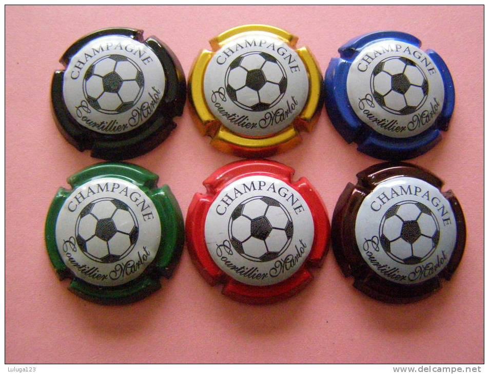 Série De 6  Capsules De Champagne - COURTILLIER MARLOT - Collections
