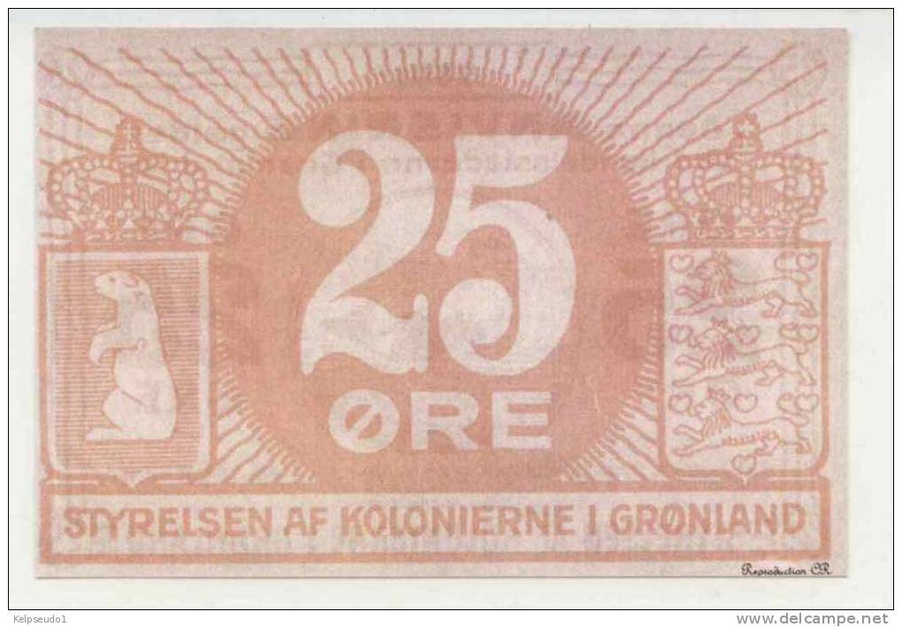 GROENLAND : 25 Ore 1913. Reproduction. - Otros