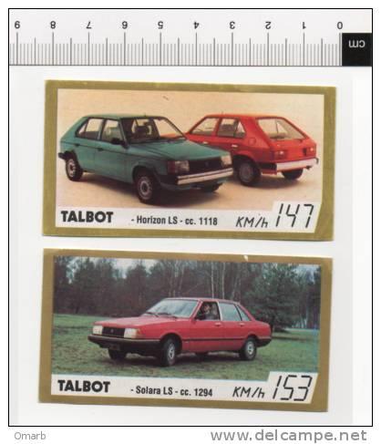 Ade052 Figurine, Stickers, Autocollant   Vintage Golden Cars, Auto Epoca, Voiture   TALBOT Horizon, Solara - Stickers