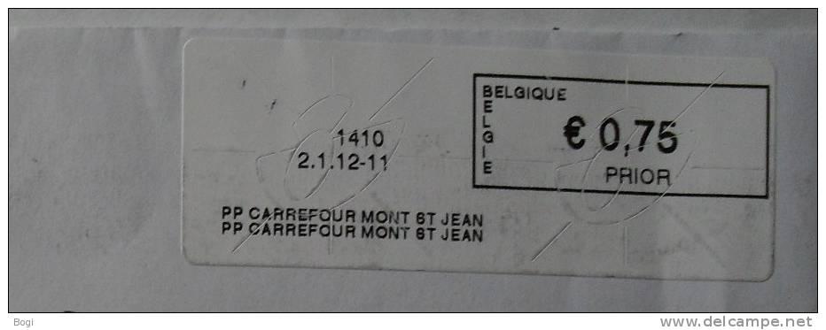 België 2012 PP Carrefour Mont St Jean 1410 - Frankeervignetten