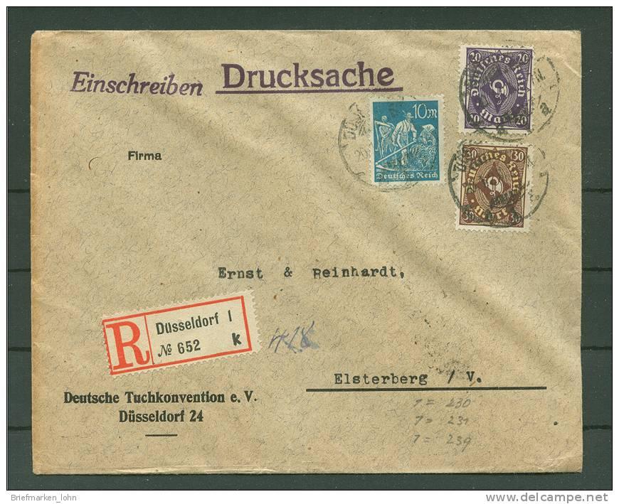 Düsseldorf  20.1.1923  Nach Elsterberg  !!! (Del-2692) - Deutschland
