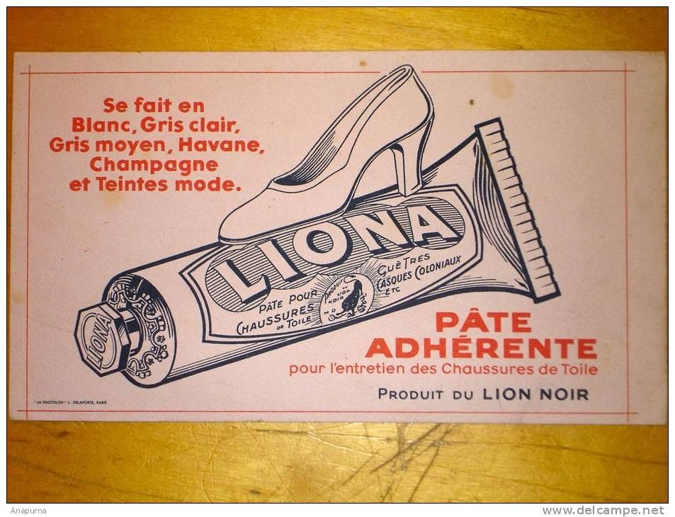 Buvard Années 30 Liona Lion Noir Pate Cirage - Uithangborden