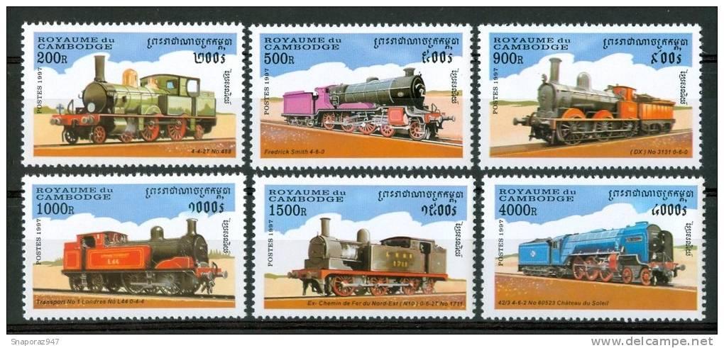 1997 Cambogia Treni Trains Railways Trasporti Transport Set MNH**B306 - Treni