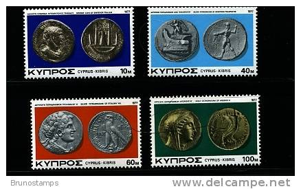 CYPRUS - 1977  COINS  SET MINT NH - Cipro (Repubblica)