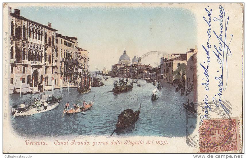 D227- Venezia - Regata 1899 - F.p. Viaggiata 1931 - Venezia
