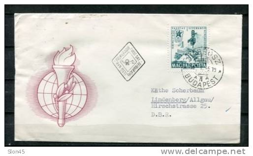 Hungary 1962 Cover  First Day  Cancel  To Germany - FDC