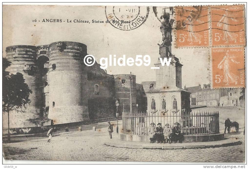 ANGERS - Le Château, Statue Du Roi René (animée) - N° 16 - Angers