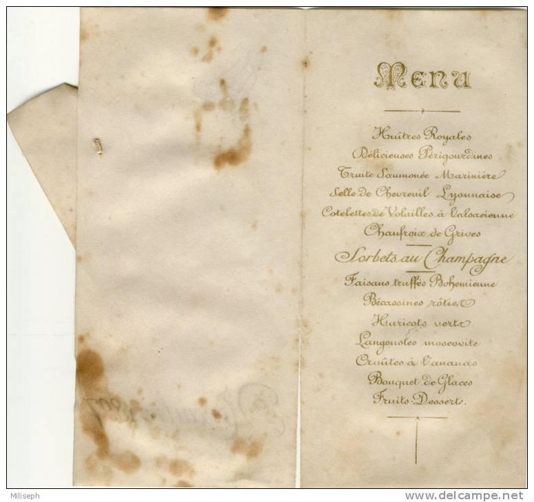 MENU - Novembre 1897 - Sur Papier Vélin        (J1716) - Menus