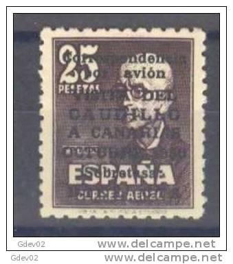 ES1090-L1580TA.Espag Ne.Spain.Manuel  De Falla.FRANCO.VISITA  A CANARIAS.1951.(Ed 1090**). Sin Charnela.LUJO - Nuevos & Fijasellos