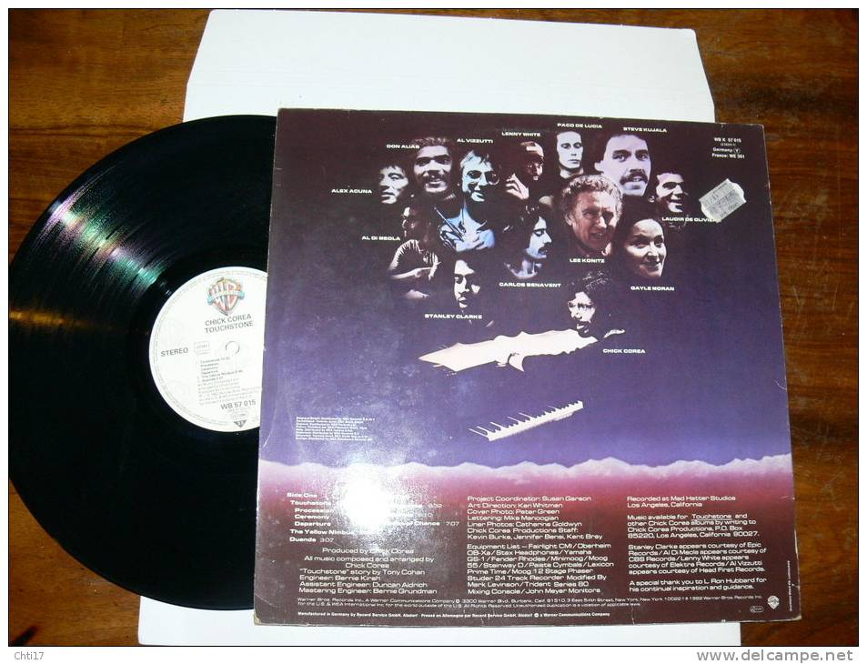 "CHICK COREA ""  TOUCHSTONE ""  EDIT WB 1982 - Jazz"