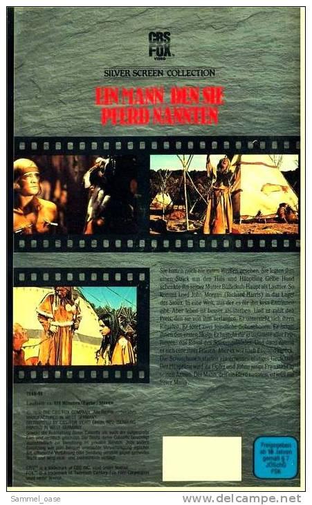 VHS Video  ,  Ein Mann, Den Sie Pferd Nannten  -  Mit Richard Harris - Western/ Cowboy