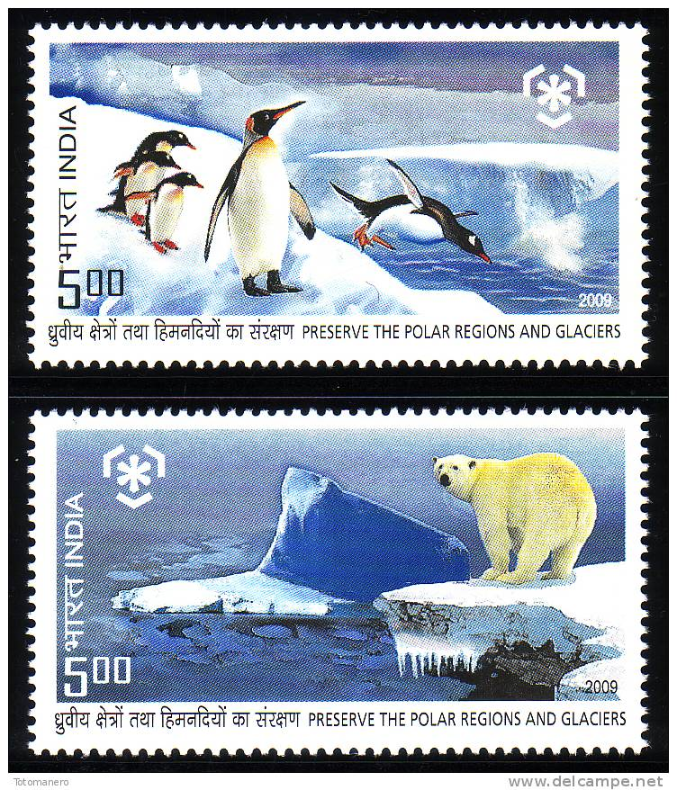 INDIA 2009, IPY International Polar Year - Preserve The Polar Regions And Glaciers Set** - Preservare Le Regioni Polari E Ghiacciai