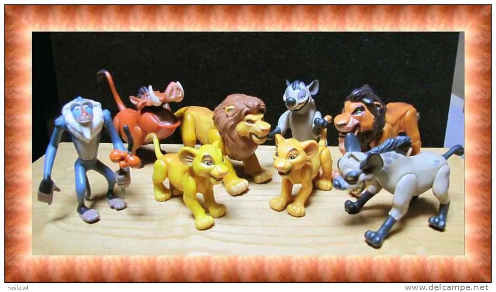 Lot 8 figurines disney mattel le roi lion articul es - Voir le roi lion ...
