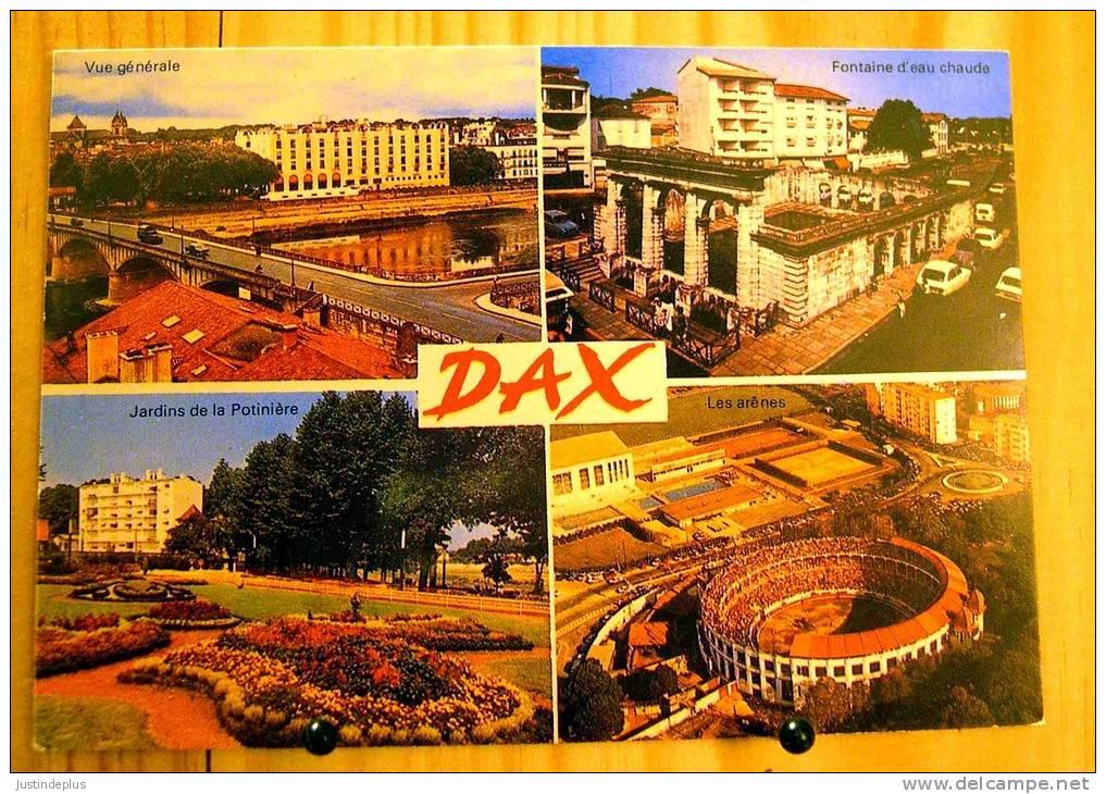 40 LANDES DAX MULTIVUES GENERALE POTINIERE FONTAINE EAU CHAUDE ARENES - Dax