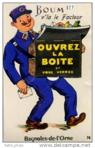 Cpa Système Dépliant, Bagnoles De L'Orne, Facteur, Postes - Bagnoles De L'Orne