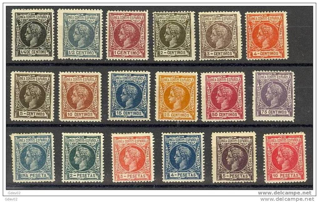 GUI09-L2048TAN.Espagne.Sp Ain.Guinee..GUI NEA ESPAÑOLA ALFONSO XIII  1903.(Ed 9/26*) - 1889-1931 Reino: Alfonso XIII