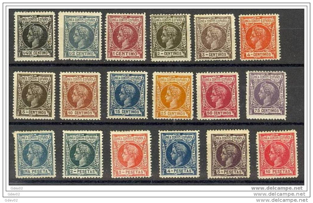 GUI09-L2048.Espagne.Spain .Guinee.GUINEA ESPAÑOLA ALFONSO XIII  1903.(Ed 9/26*) - Guinea Española