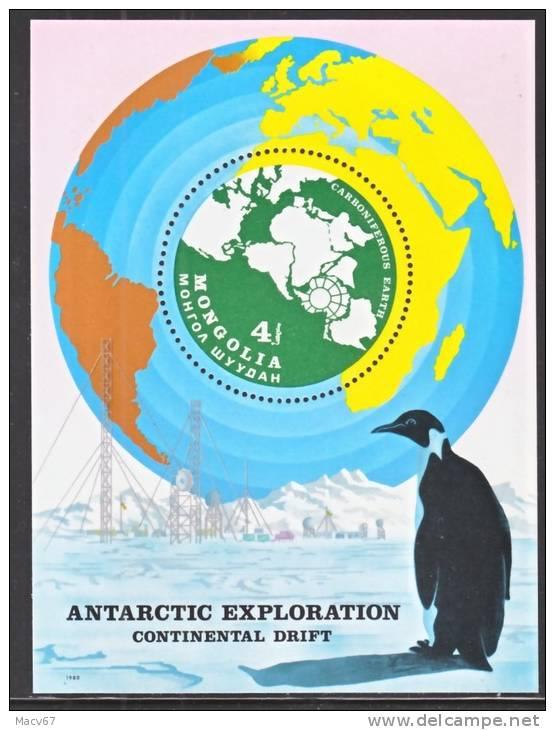Mongolia 1145  **  POLAR ANTARCTIC  MAP  FAUNA - Antarctic Wildlife