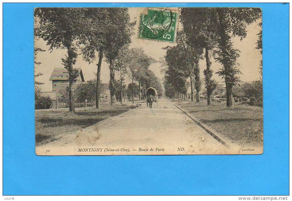 78 MONTIGNY : Route De Paris - (coupure Coin Droit) - Montigny Le Bretonneux