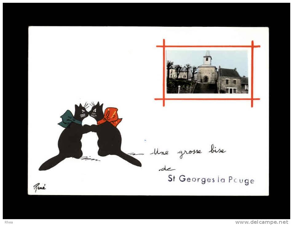 23 - SAINT-GEORGES-LA-POUGE - Une Grosse Bise De - France