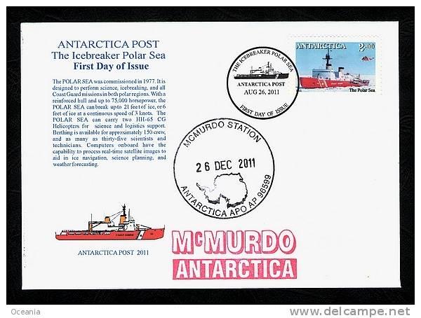 Antarctia Post Ice Breaker Polar Sea FDC 2011 - Stamps