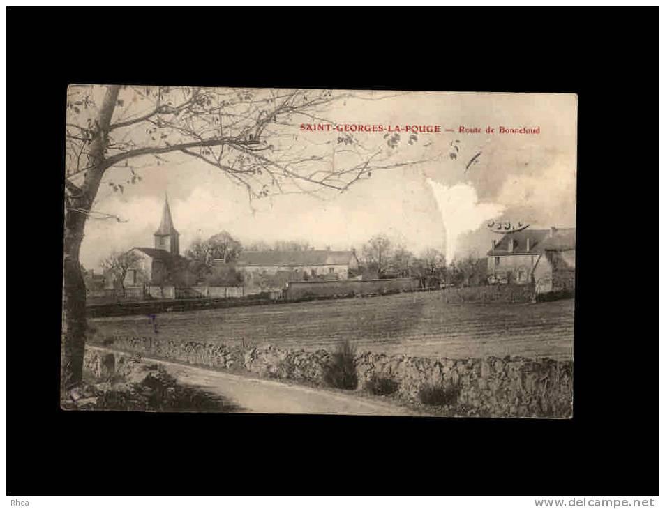 23 - SAINT-GEORGES-LA-POUGE - Route De Bonnefoud - France
