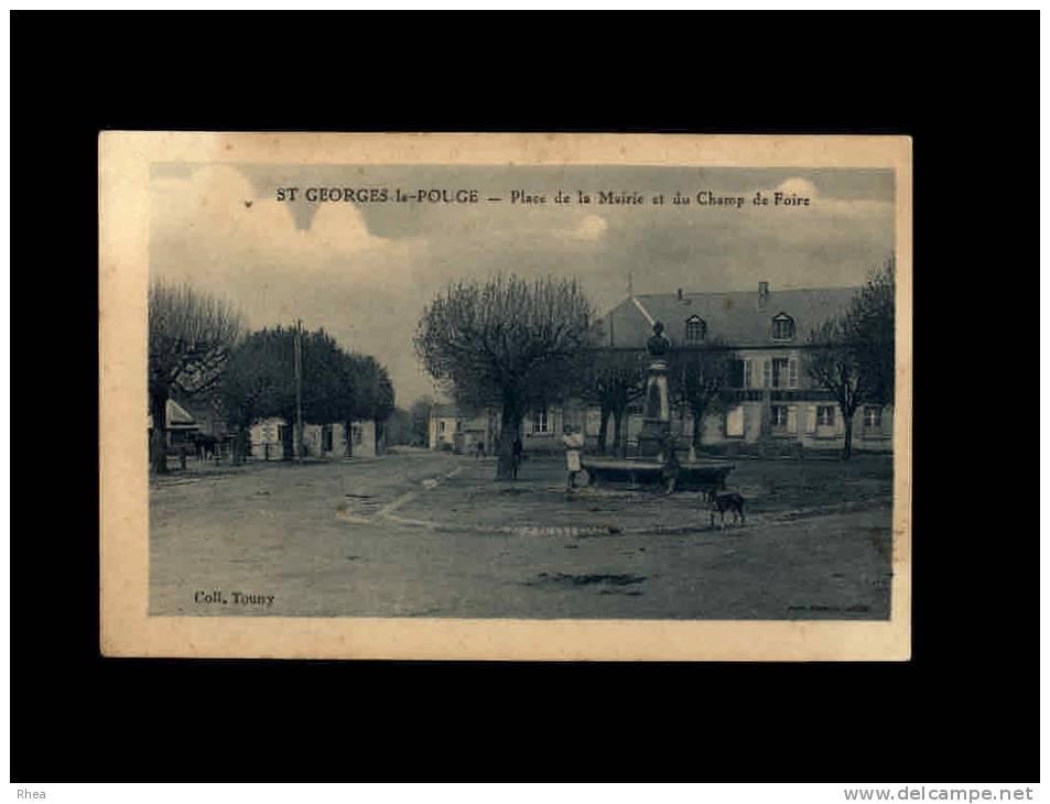23 - SAINT-GEORGES-LA-POUGE - Place De La Mairie Et Du Champ De Foire - France