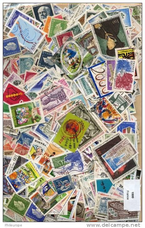 Lot De Timbres De France (1500 Differents) - Timbres