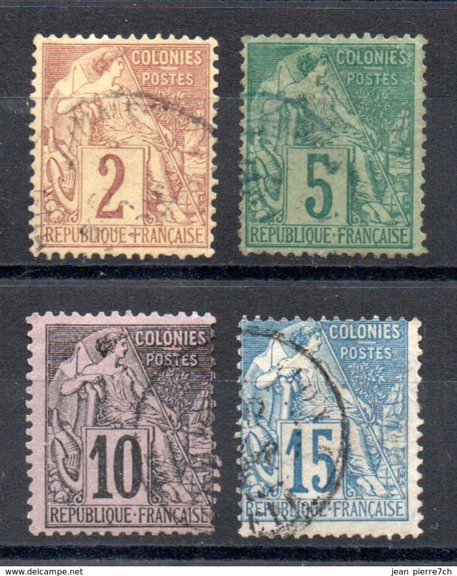 Colonies Générales  Allgemeine Kolonialausgabe Y&T 47°, 49°, 50°, 51° - Alphée Dubois